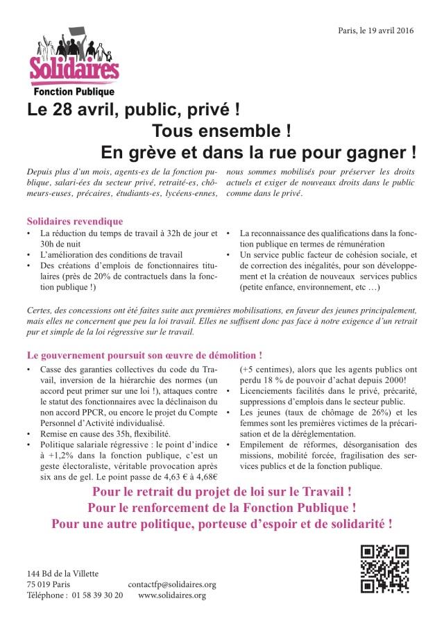 28 avril fonction publique
