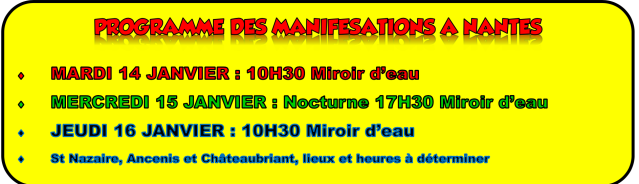 Grève 14, 15 et 16 janvier à Nantes
