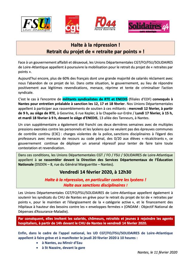 Grève Nantes