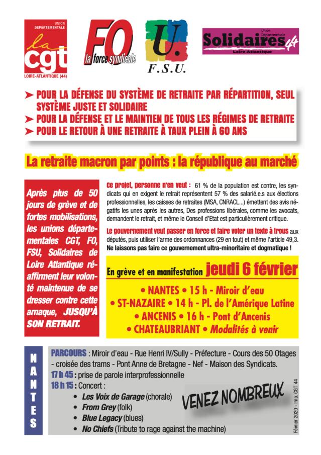 Grève 6 février Nantes